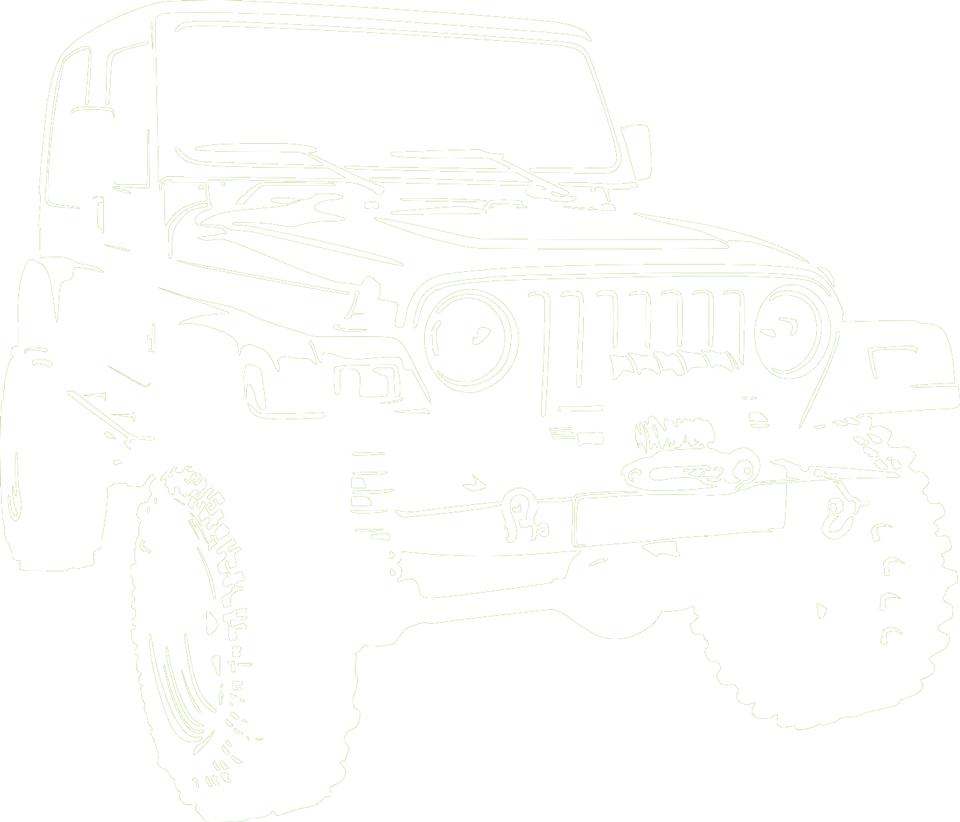 jeep 4x4 white